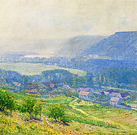 The Saine Valley, Giverny, rose