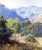 View in the San Gabriel Mountains, rose