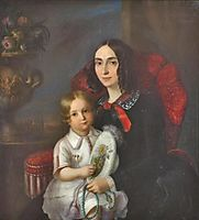 Anica Manu with her child, rosenthal