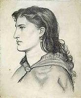Aggie, 1862, rossetti