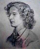Algernon Charles Swinburne, 1860, rossetti