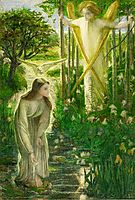 The Annunciation, c.1855, rossetti