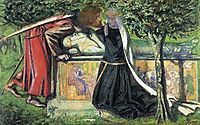 Arthur-s Tomb: The Last Meeting of Lancelot and Guinevere, 1854, rossetti