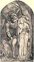 TheBeautifulLadyWithoutgoods, 1848, rossetti