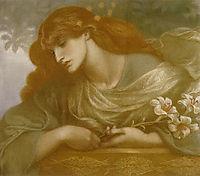 The Blessed Damozel Study, 1873, rossetti