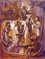 The Boat of Love, 1874, rossetti