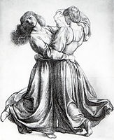 The Bower Meadow Study (Study of Dancing Girls), 1872, rossetti