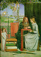 The Childhood of Mary Virgin, 1848-1849, rossetti