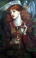 The Damsel of the Sanct Grael or Holy Grail, 1874, rossetti