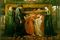 Dante-s Dream at the Time of the Death of Beatrice, 1871, rossetti