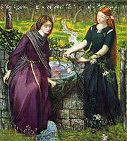 Dante-s Vision of Rachel and Leah, 1855, rossetti