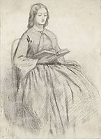 Elizabeth Siddall in a Chair, rossetti