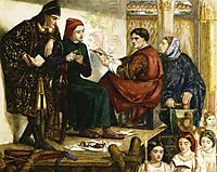 Giotto Painting the Portrait of Dante, 1852, rossetti