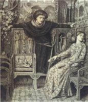 Hamlet and Ophelia, 1858, rossetti