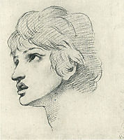 Head of a Youth, rossetti
