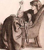 Jane Morris, 1860, rossetti