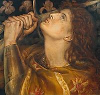 Joan of Arc, 1864, rossetti