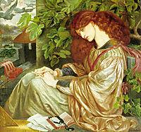 La Pia de Tolomei, 1868-1880, rossetti