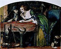 The Laboratory, 1849, rossetti