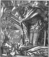 The Lady of Shalott (Moxon Tennyson), 1857, rossetti