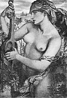 Ligeia Siren, 1873, rossetti