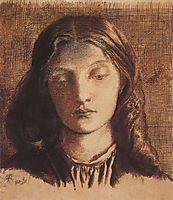 Portrait of Elizabeth Siddal, 1855, rossetti