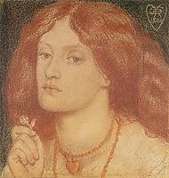 Regina Cordium or The Queen of Hearts, rossetti