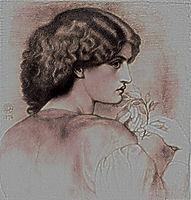 The Roseleaf, c.1865, rossetti