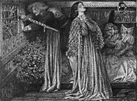 Sir Launcelot in the Queen-s Chamber, 1857, rossetti