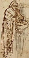 Sketch For Dante At Verona, With A Preliminary Study For The Principal Figure, rossetti