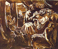 Study for the Death of Lady Macbeth, c.1875, rossetti