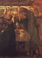 Tristan and Isolde Drinking the Love Potion, rossetti