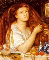 Woman Combing Her Hair, 1865, rossetti