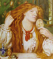 Woman Combing Her Hair, rossetti