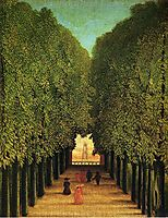 Alleyway in the Park of Saint Cloud, rousseau