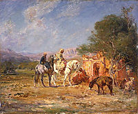 Arab horsemen near the mausoleum, rousseau