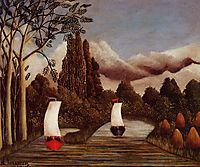 The Banks of the Oise, rousseau
