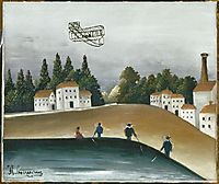 The Fishermen and the Biplane, 1908, rousseau