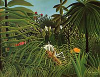 Horse Attacked by a Jaguar, 1910, rousseau