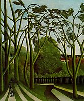 Landscape on the Banks of the Bievre at Becetre, 1909, rousseau