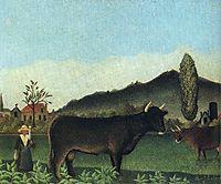 Landscape with cow, c.1886, rousseau