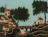 Landscape with Bridge, rousseau