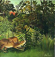 A Lion Devouring its Prey, 1905, rousseau