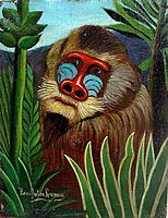 Mandrill in the Jungle, 1909, rousseau