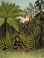 Monkeys in the Jungle, 1910, rousseau