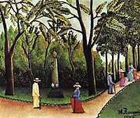 The Monument to Chopin in the Luxembourg Gardens, 1909, rousseau