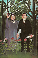 The Muse Inspiring the Poet. , 1909, rousseau