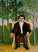 Portrait of Joseph Brummer, 1909, rousseau