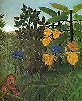 The Repast of the Lion, 1907, rousseau