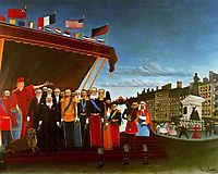 The Representatives of Foreign Powers Coming to Greet the Republic as a Sign of Peace, 1907, rousseau